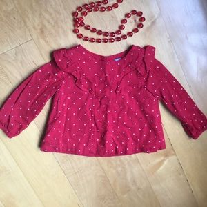 Baby Gap ❤️ blouse in size 12-18months